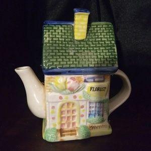 Vintage Florist Shoppe Teapot